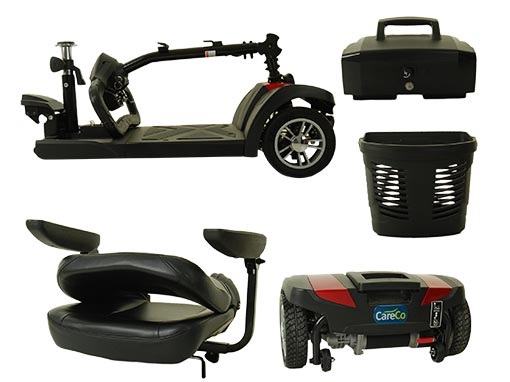 Zoom Plus Travel Mobility Scooter Rear Wheels
