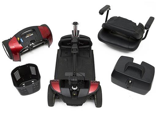 Pride Go Go Elite Traveller 4 Mobility Scooter Rear Wheels